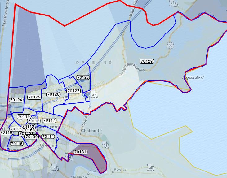 new orleans zip codes map New Orleans Zip Code Map And List Zip Code Map Map New Orleans new orleans zip codes map