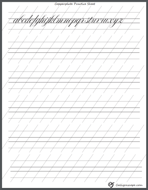 picture relating to Printable Calligraphy Practice Sheets referred to as 4 Cost-free Printable Calligraphy Train Sheets (PDF Obtain