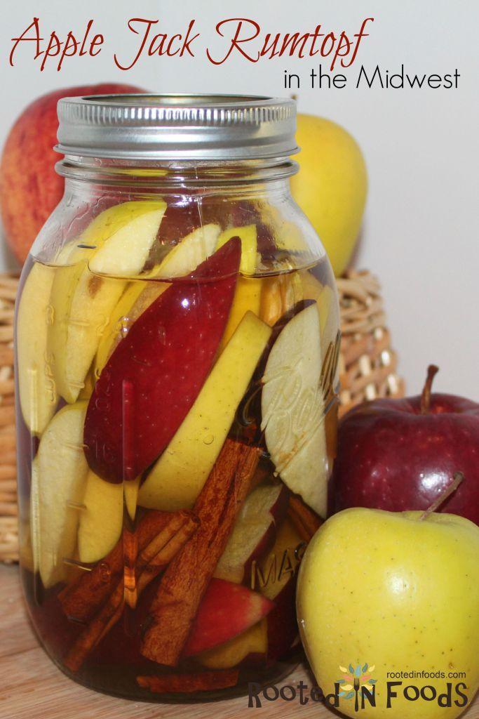 Apple Jack Rumtopf Recipe Preserving apples, Food