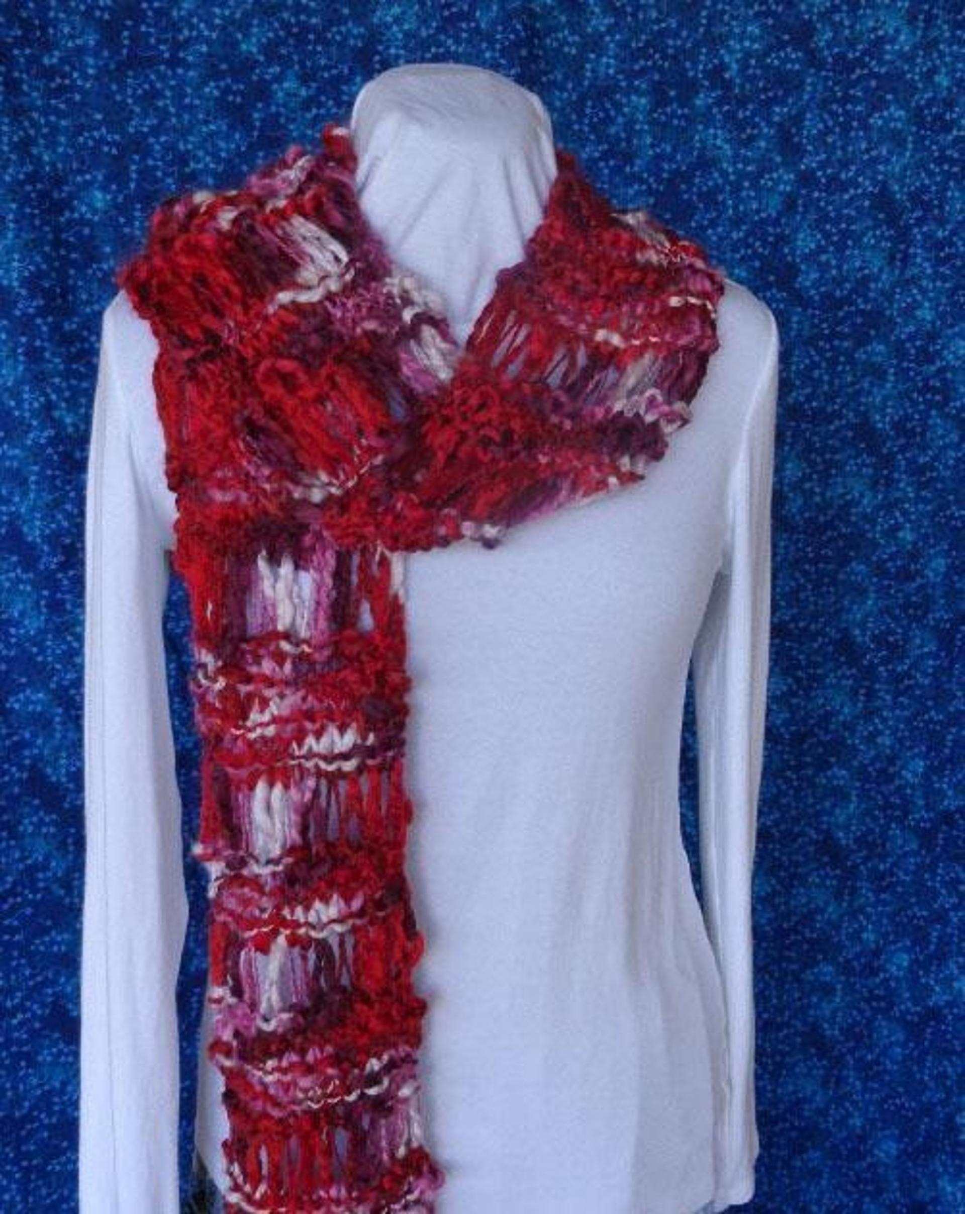 Chunky Drop Stitch Knit Scarf Pattern - Free Knitting Pattern ...