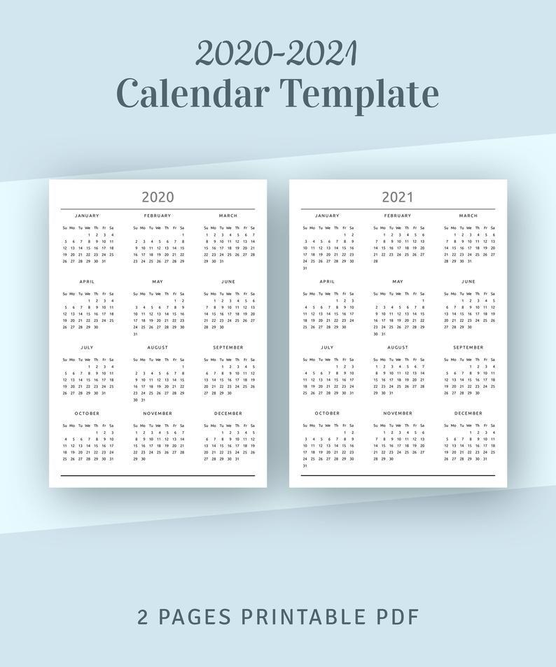 2021 Calendar Overview Images