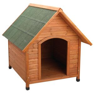 Ware Premium A Frame Doghouse Wood Dog House Insulated Dog