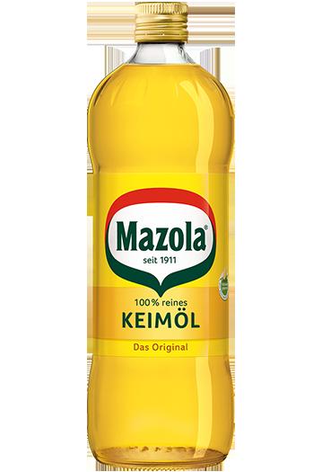 Mazola Keimöl - kann hoch erhitzt werden und ist zum Braten besser als z.B. Olivenöl