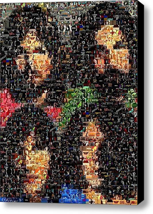 Pink Floyd Mosaic Canvas Print Canvas Art By Paul Van Scott In 2021 Pink Floyd Art Pink Floyd Fan Pink Floyd