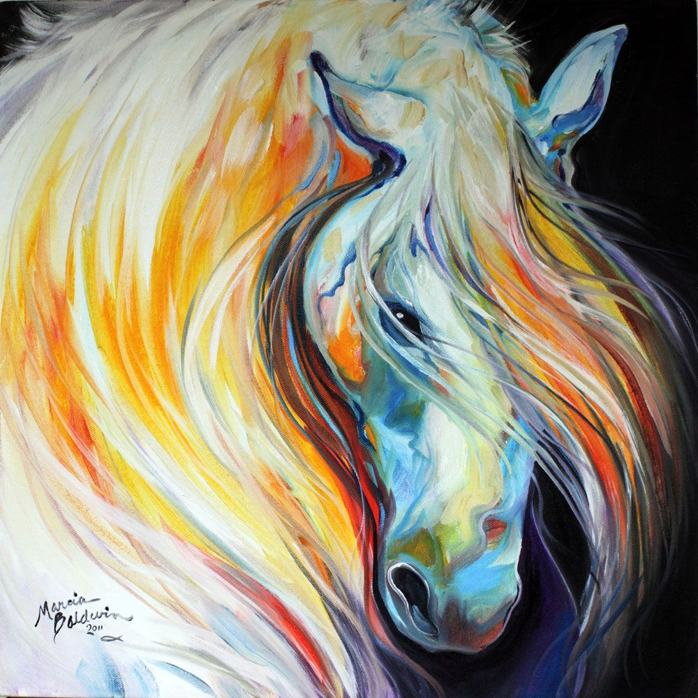 Abstract art gallery lipizzaner original horse art oil for Oil painting abstract ideas