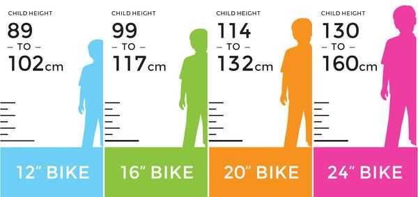 What Size Bike Does Your Child Need Kids Bike Kids Bike Sizes
