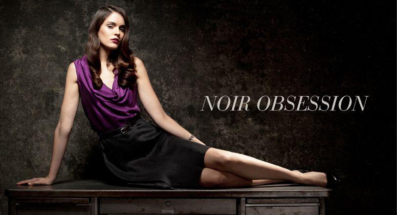 Noir Obsession  Printed Skirt #2dayslook #PrintedSkirt #anoukblokker #susan257892    www.2dayslook.com