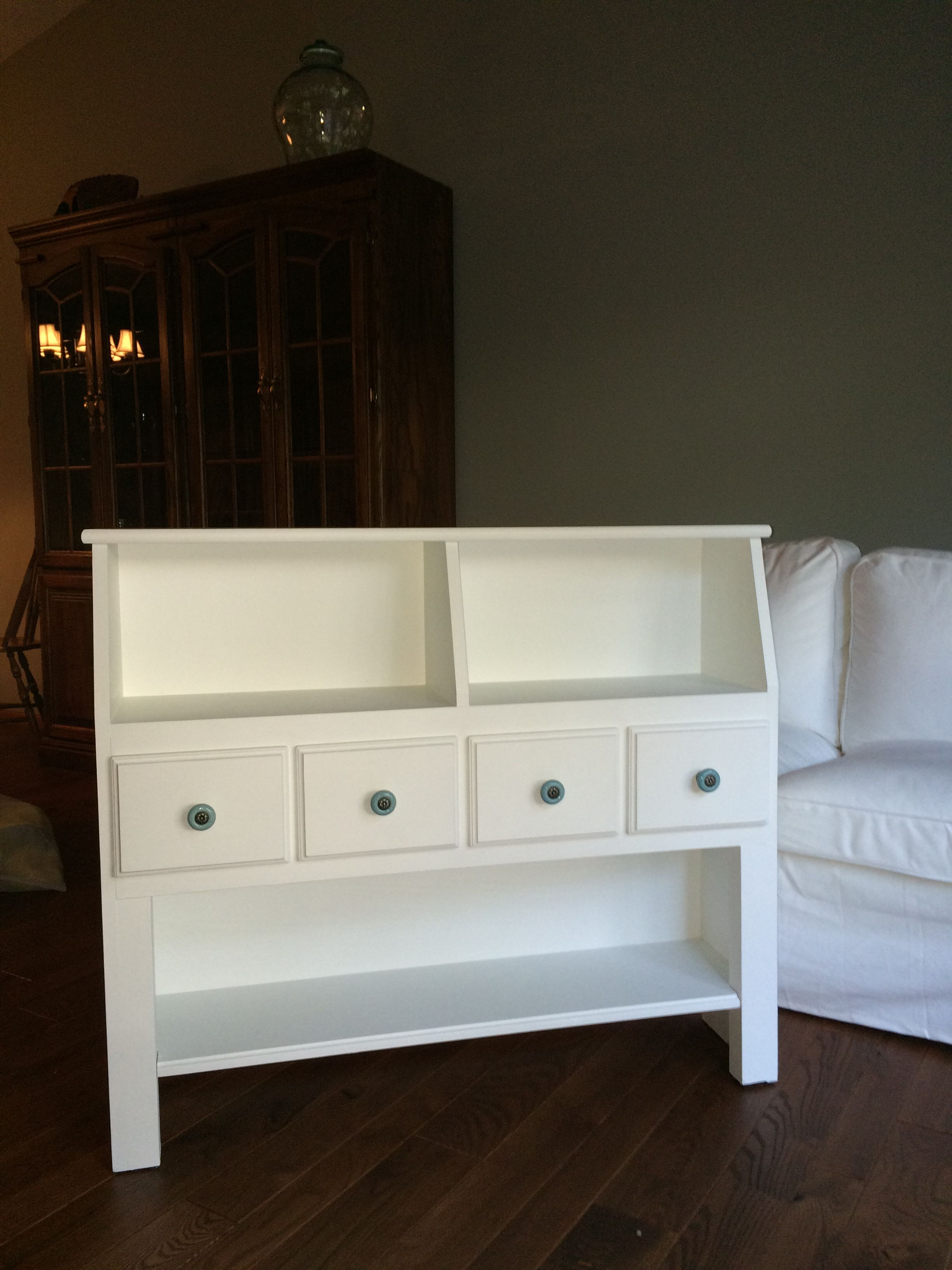 Repurposed Twin Bookcase Headboard Headboard With Shelves