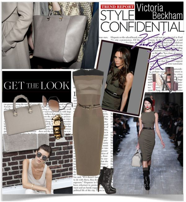 """""""Get the Look - Victoria Beckham"""" by khumphrey101 ❤ liked on Polyvore"""