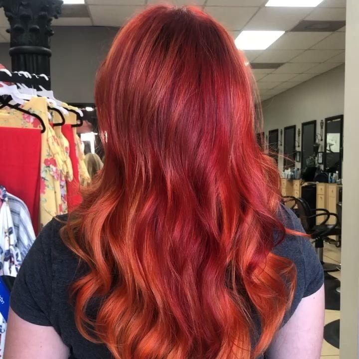 Photo of Pintar el color del cabello rojo