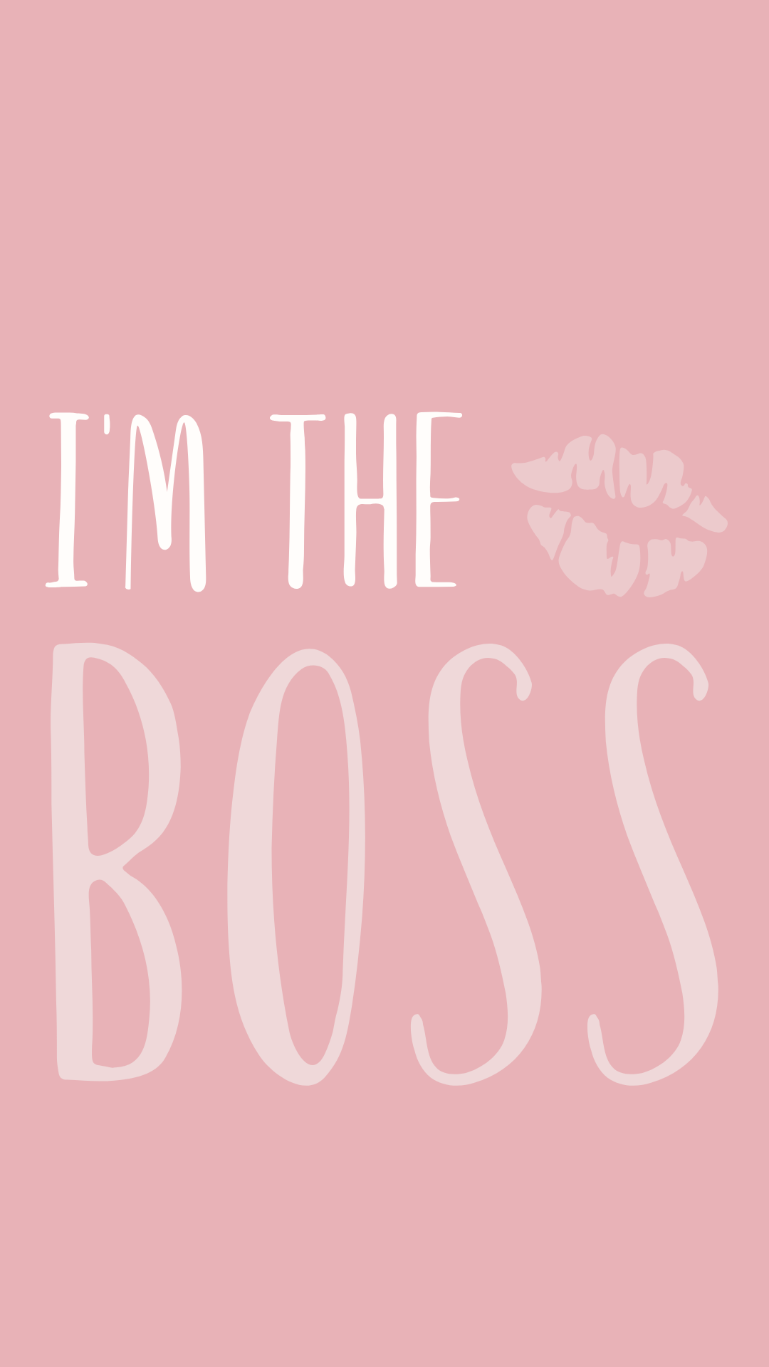 Pink Aesthetic Wallpaper And Instagram Story I M The Boss Girl Boss Wallpaper Pink Aesthetic Boss Wallpaper