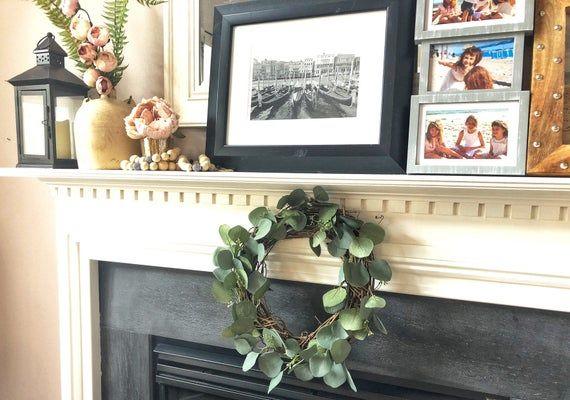Photo of Eucalyptus Wreath~Mantle Decor~Wreaths for Front Door~ Door Wreaths~Eucalyptus Wreaths~Farmhouse Wreath~Wreath~All Season Wreath~Door Decor