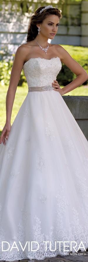 The David Tutera for Mon Cheri Wedding Gown Collection - Style No. 113206 Margie davidtuteraformoncheri.com #weddingdresses #weddinggowns