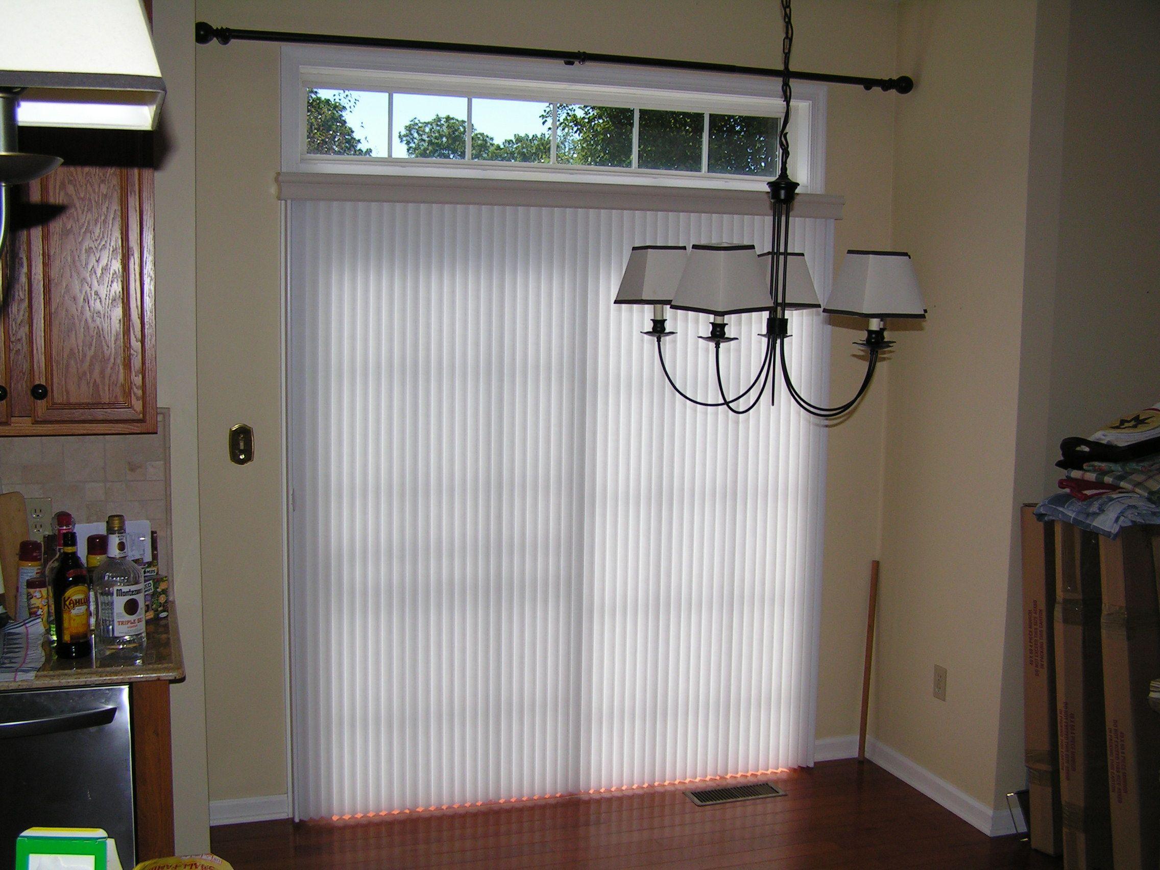 Kitchen nook window treatments  vertiglide architella duette honeycomb shade in dazzling white for a