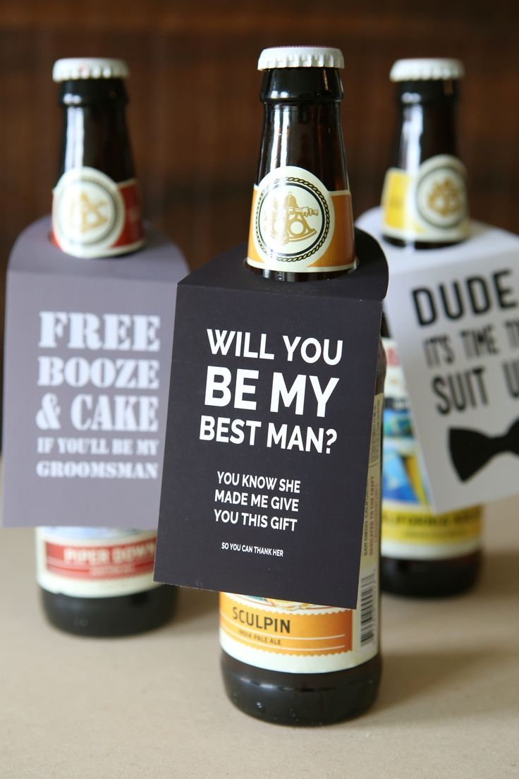 You Have To See This Diy Will You Be My Groomsmen Beer Gift
