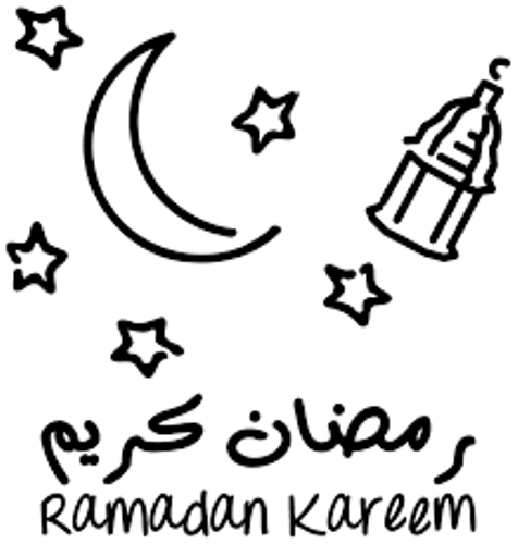صور تلوين هلال رمضان 2018 , رسومات شهر رمضان للاطفال , رسم