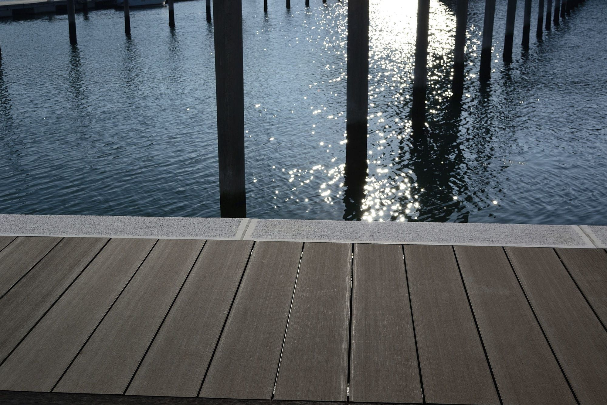 American Wood Plastic Composite Deck Pool Deck Plans Composite Decking Decking Options