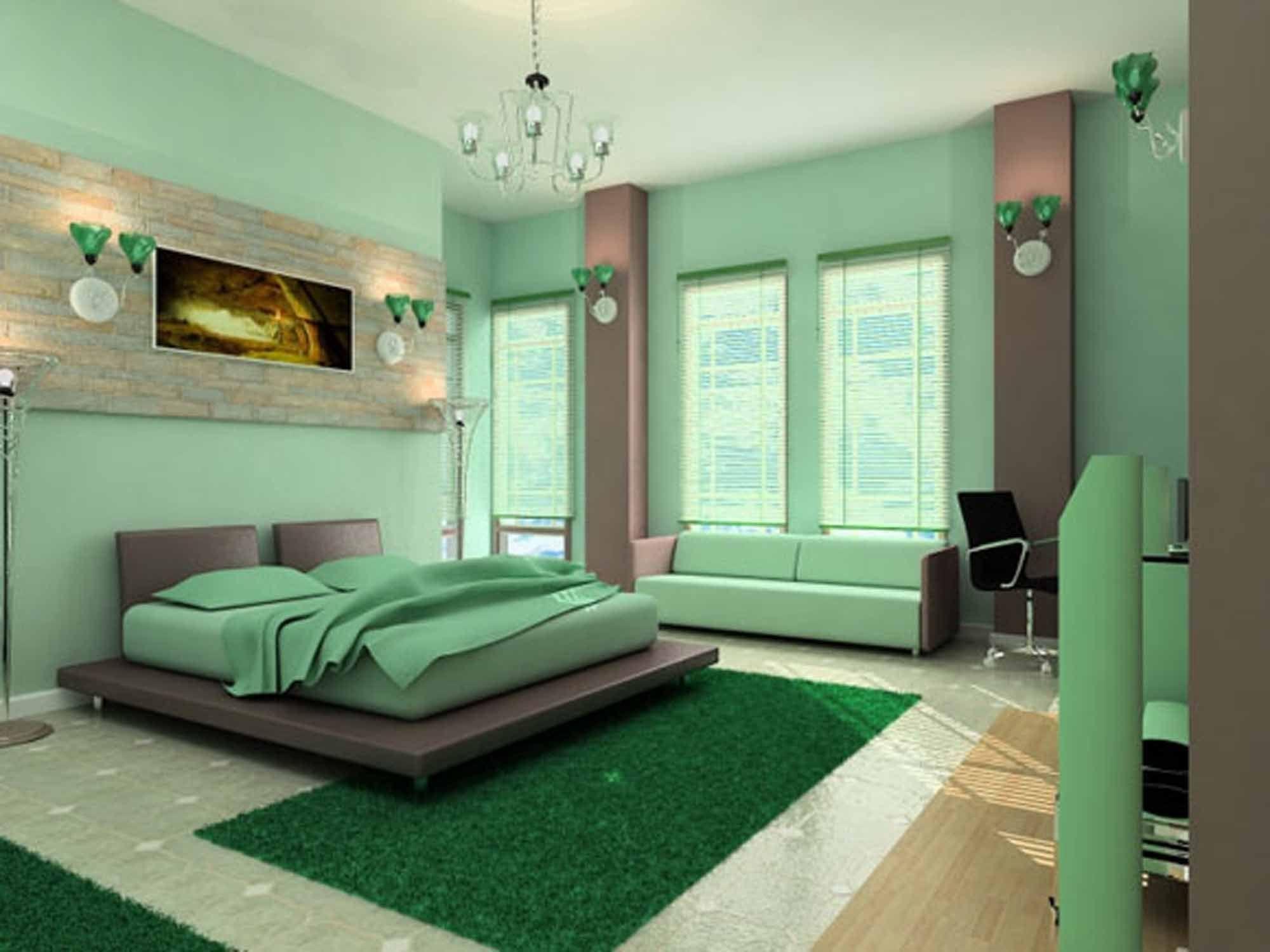 Room Fresh Green Mint Color Warm