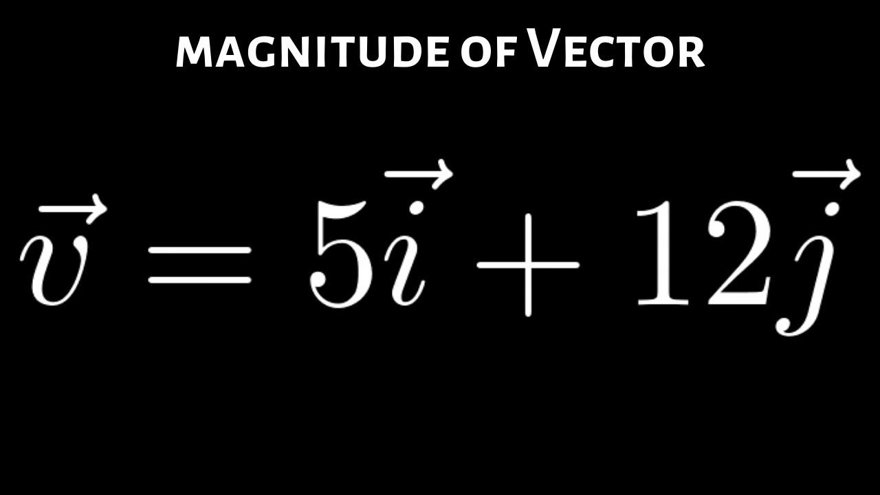 Find The Magnitude Of The Vector V 5i 12j Math Videos How To Become Videos Please Adding two vectors linear algebra