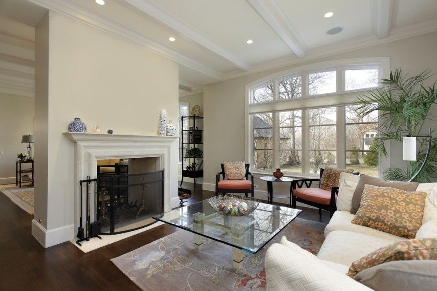 21 Riveting Living Rooms With Dark Wood Floors (PICTURES) Dark