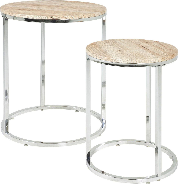 Beistelltisch Set Aus Holz Und Metall Beistelltisch Rund Beistelltisch Beistelltische Set