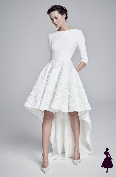 Vestidos de novia cortos: looks de inspiración