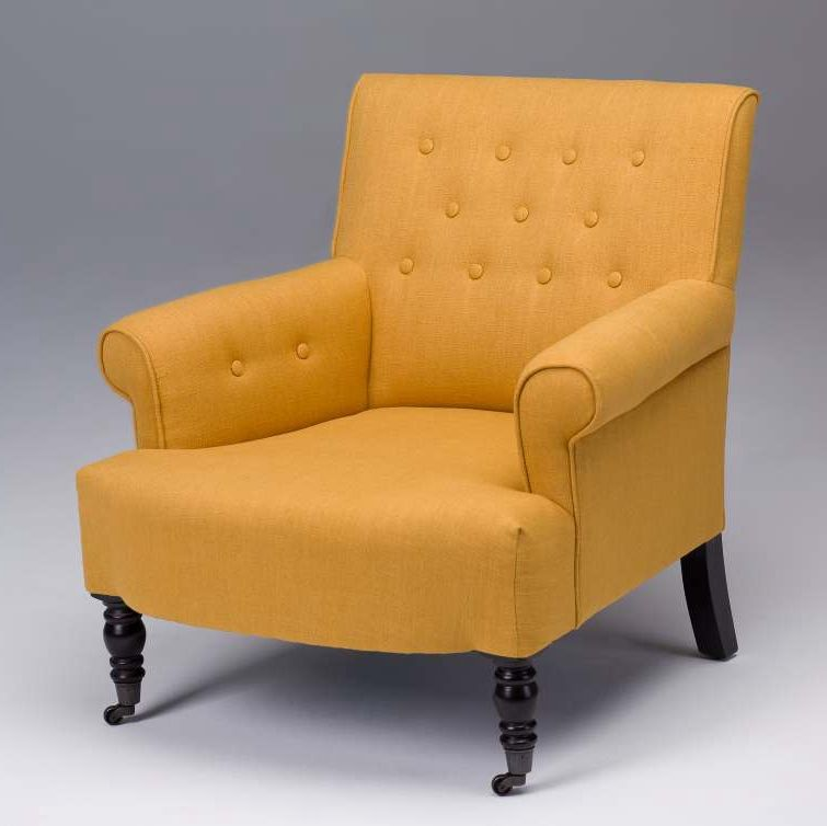 Best Tufted Furniture Yellow Accent Chairs Beige Accent 400 x 300