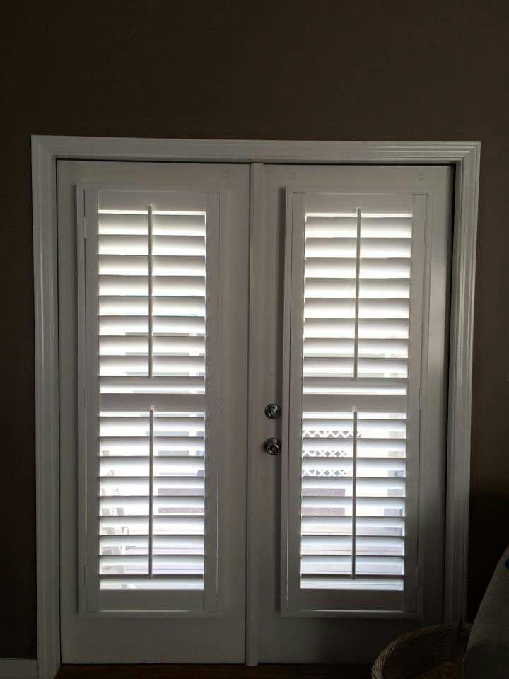 3 1 2 Shutter Installed On French Door Glass French Doors French Doors French Doors Interior