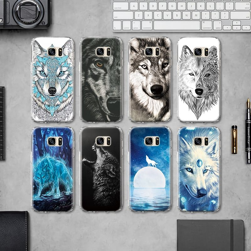 Wolf Dog Phone Cases for Samsung Galaxy S4 S5 Mini S6 S7 Edge S8 ...