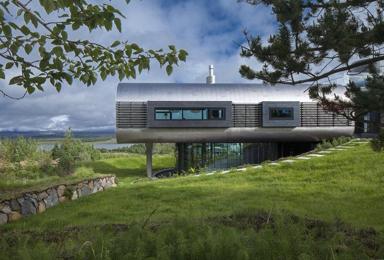 This futuristic contemporary house called the house of shapes is a contemporary residence which has been designed by eon architecture