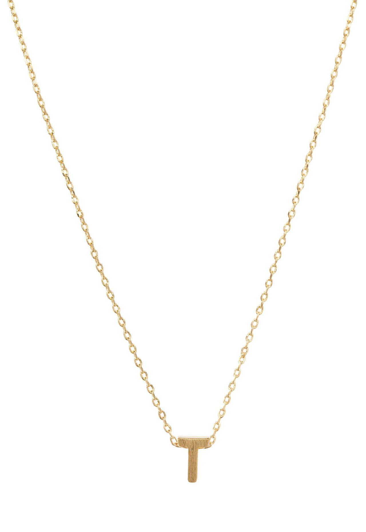 Be Yourself Initial Necklace T