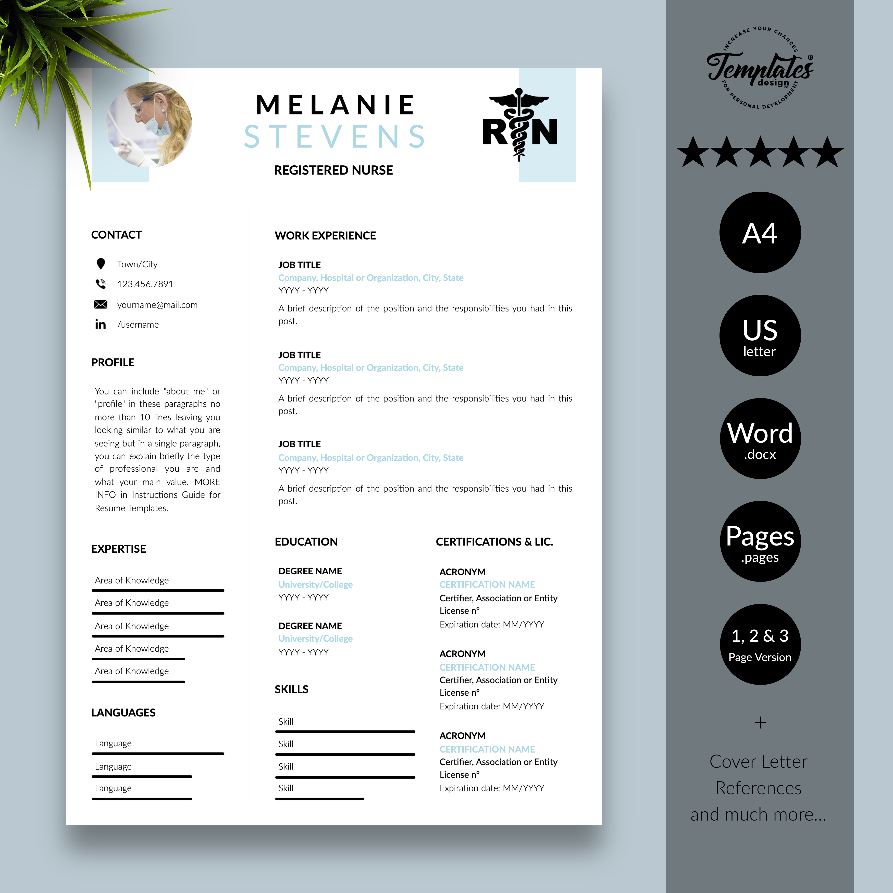 Nursing Resume Reference Page