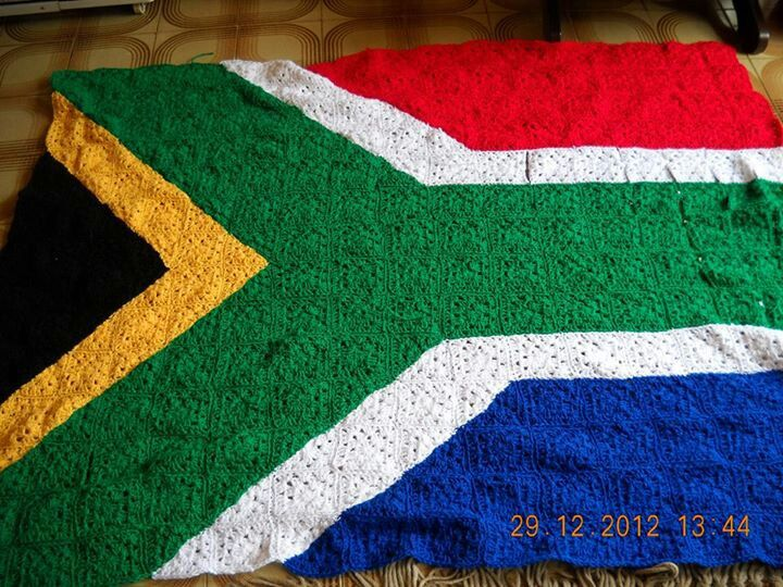 Crochet South African Flag How Cool Is That Proudly South