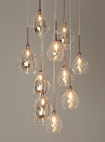 Carmella 10 light cluster bhs 180 httpbhsenbhuk bhs illuminate atelier carmella 10 light cluster glass and copper cluster ceiling light dining room aloadofball Images