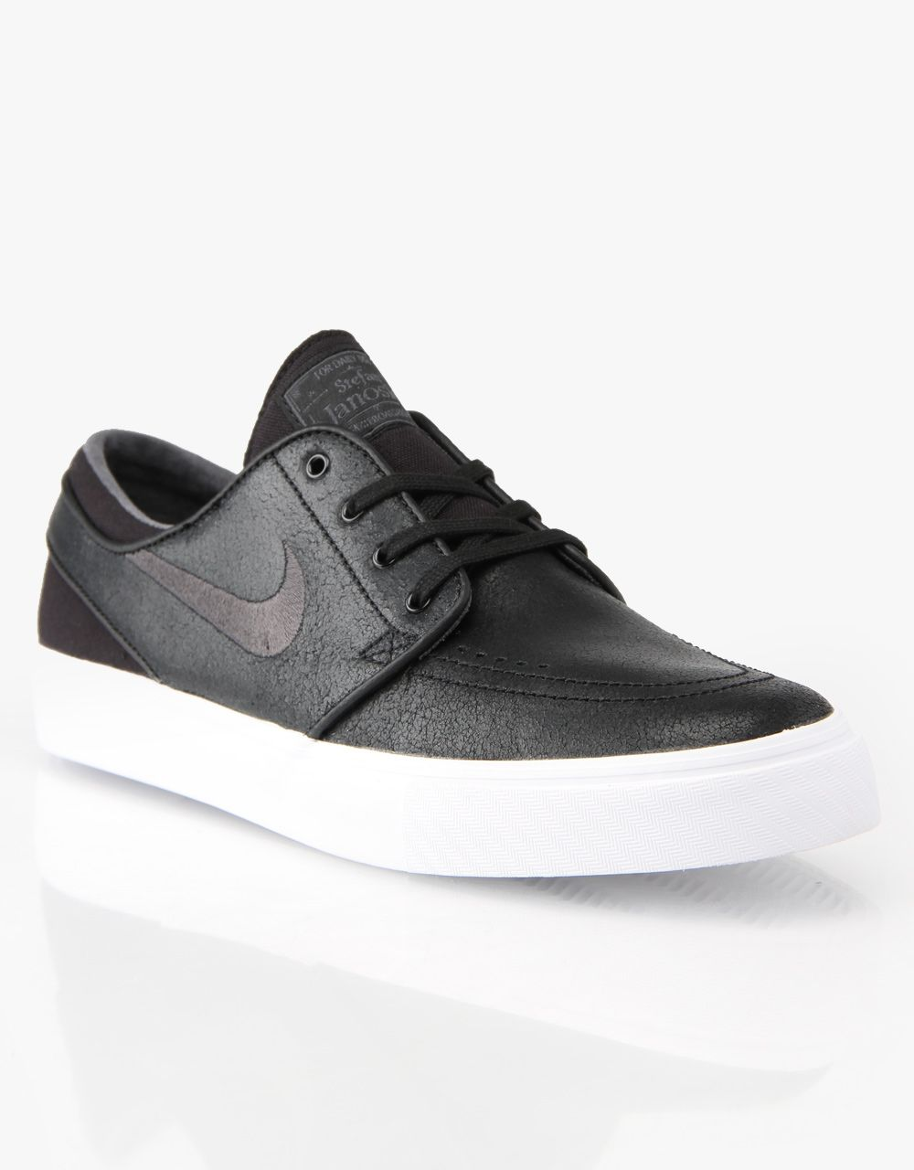 09d9bbdaccd4 Nike SB Zoom Stefan Janoski Leather Skate Shoes - Black Anthracite ...