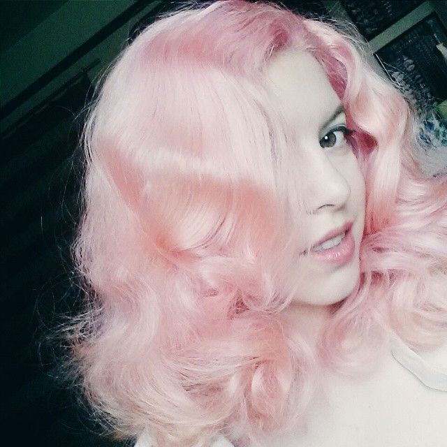 pink cotton candy hair