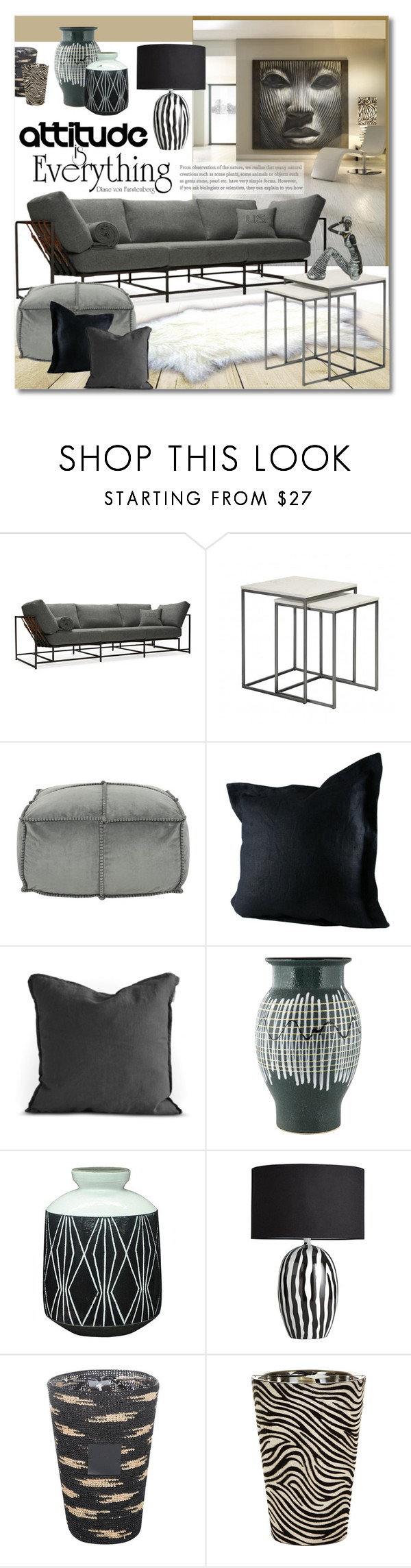 """Untitled #1100"" by valentina1 ❤ liked on Polyvore featuring interior, interiors, interior design, home, home decor, interior decorating, Stephen Kenn, Two Square, Safavieh and Nate Berkus"
