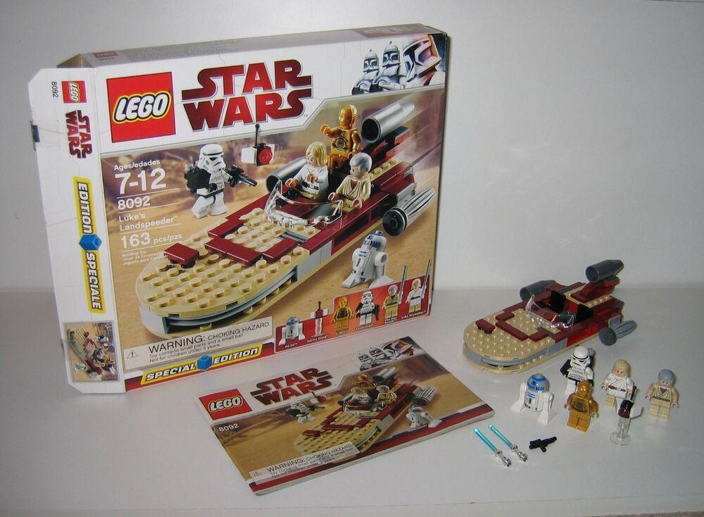 8092 Lego Star Wars Lukes Landspeeder 100 Complete Box