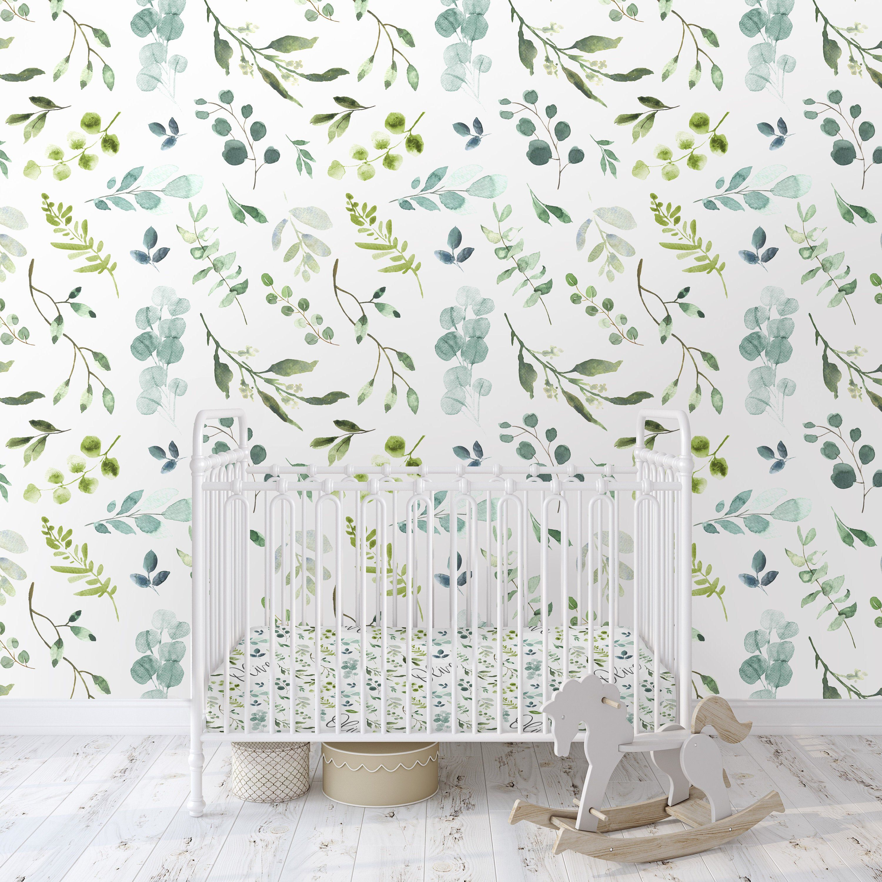 Colorful Fabrics Digitally Printed By Spoonflower Olive Bloom Small Peel And Stick Wallpaper Botanical Wallpaper Large Scale Wallpaper