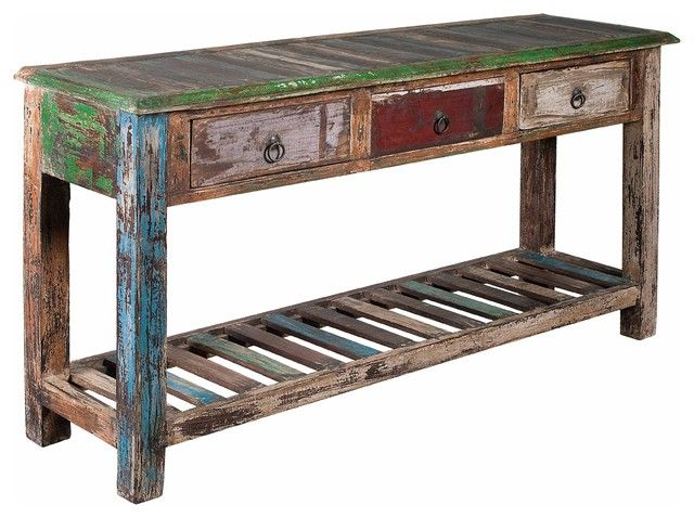 #100 Years Old Reclaimed Wood #PureVintage Reclaimed Wood Furniture # 3 Drawers  Reclaimed Wood