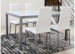 Conjunto de mesa de comedor + 4 sillas Barcelona | Salon | Home ...