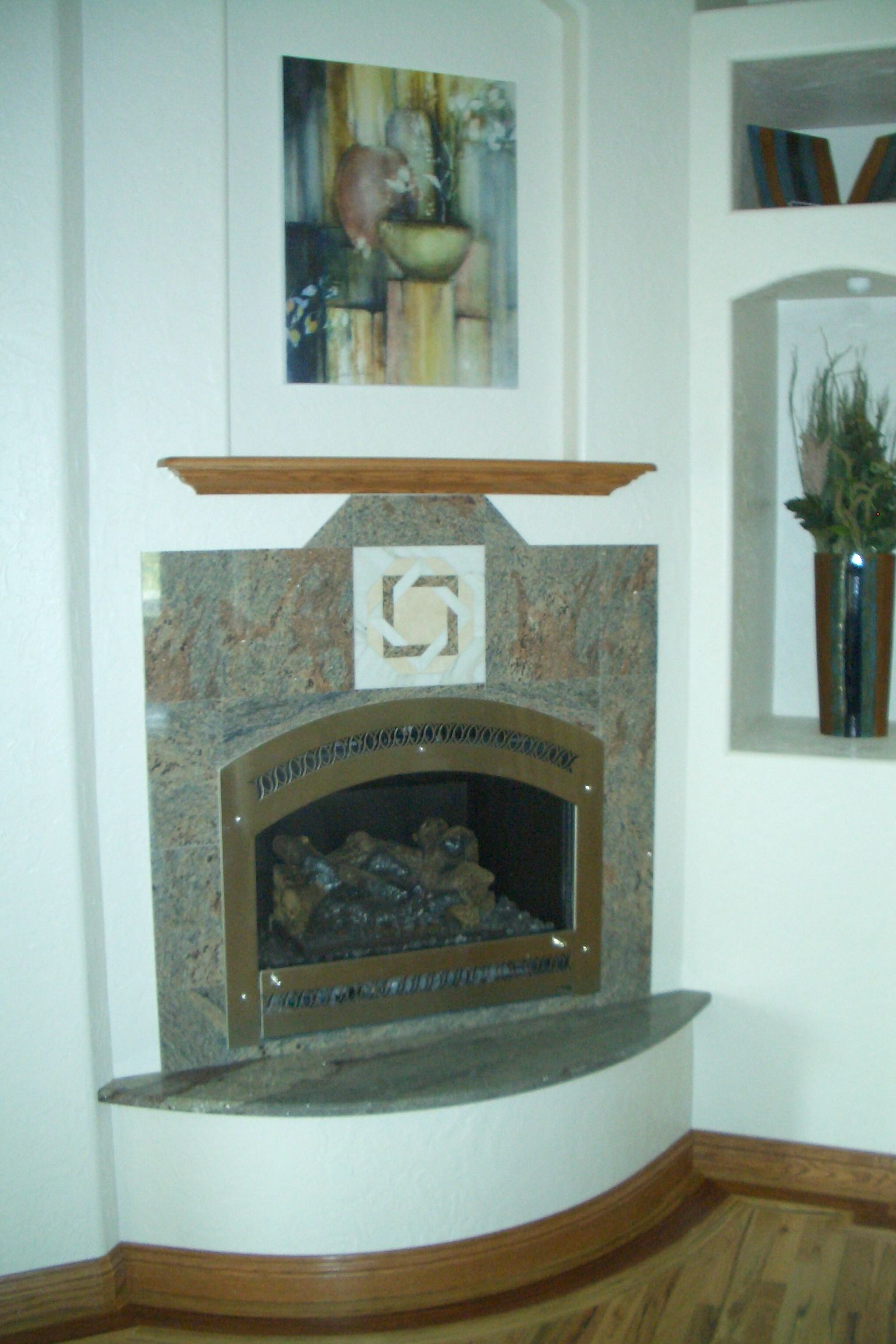 Marble And Granite Fireplace Surround In Loveland Granite
