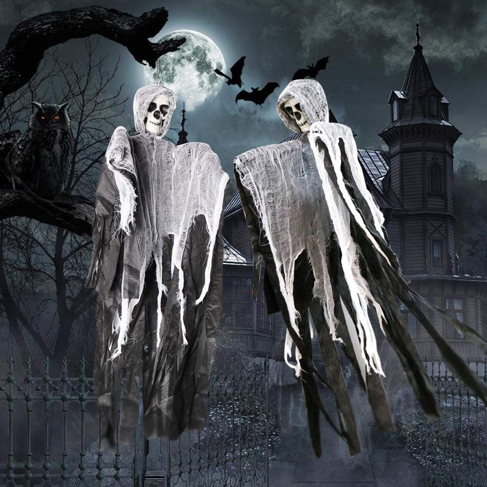 Wmbetter 40a Halloween Hanging Ghost Decoration With Realistic