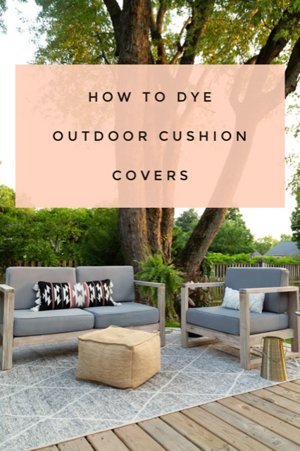 How to Dye Outdoor Cushion Covers | Outdoor cushion covers ...