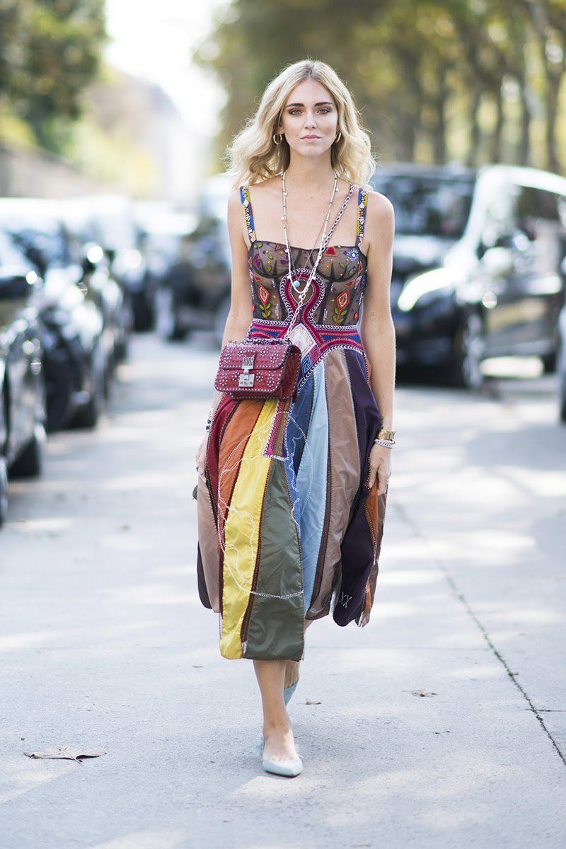Paris Fashion Week Street Style Spring 2018 Chiara Ferragni In Dior
