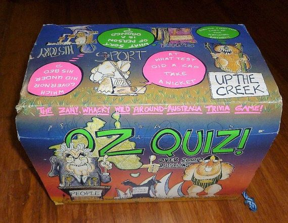 35 Vintage 1984 Oz Quiz Board Game Around Australia