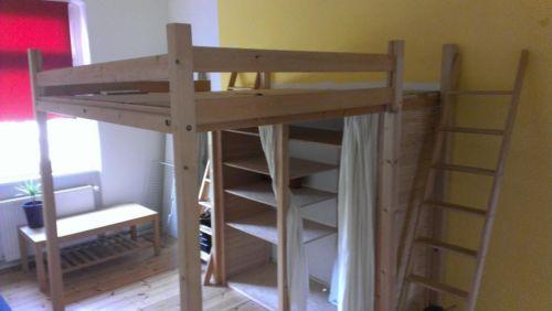 hochbett holz bett vollholz gut verarbeitet und sehr. Black Bedroom Furniture Sets. Home Design Ideas