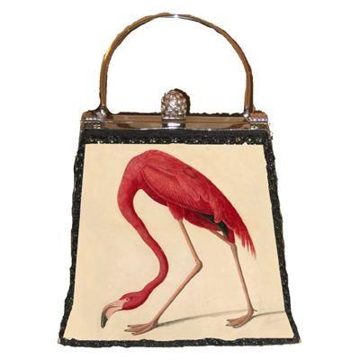 Audubon's Greater Flamingo on a handbag, 6 x 5 x 1 inches, $135 at New York Historical Society Store.