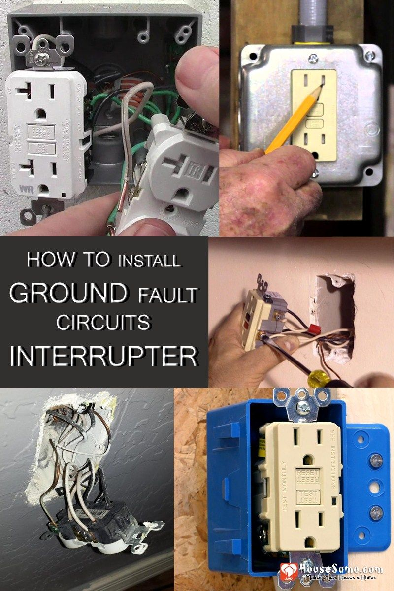 Diy Installation Of Gfci Receptacles How To Install Ground Fault Wiring Circuit Interrupter In Ungrounded Houses Covers The And