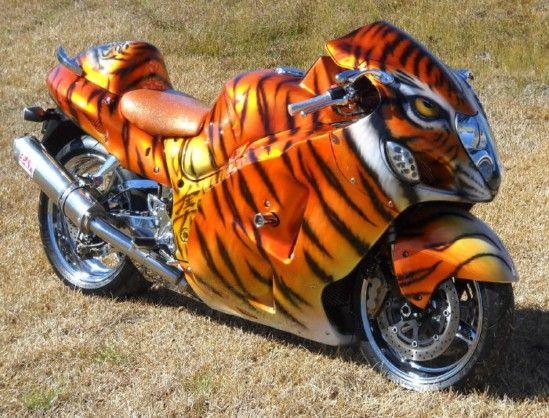 Custom Motorcycle Paint Sports Bike Tiger Hayabusa Biker T